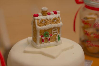 Fully-iced Christmas Cake